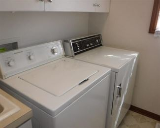 Kitchenaid washer and General Electric dryer