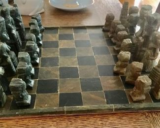 Cut Stone Chess Set