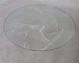 Unique glass table