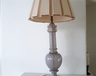 Blown glass lamp