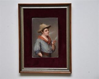 5. Portrait Of Young Man Signed Santa
