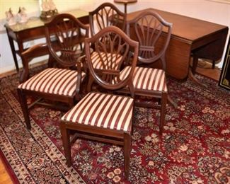 7. Set Of Four 4 Dining Chairs By TROGDON FURNITURE COMPANY