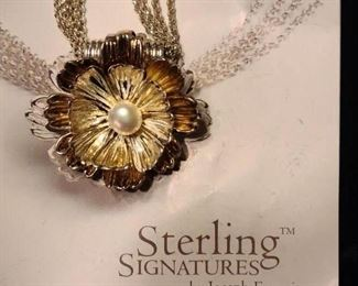 Gorgeous Sterling and 14K necklace by Joseph Esposito