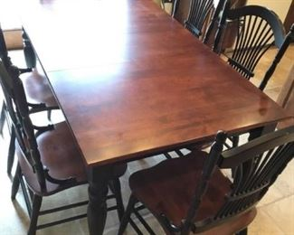 Canadel Wood Table with Six Chairs