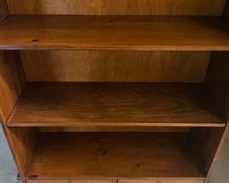 "3 Shelf 2 Draw Cabinet w/Metal Legs  - 60"" Tall x 36"" Wide x 12"" Deep - $120"