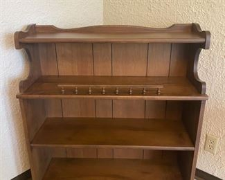 "Vintage 3-Shelf Display Wooden Cabinet - 38"" Tall x 34"" Wide x 12"" Deep - $60"