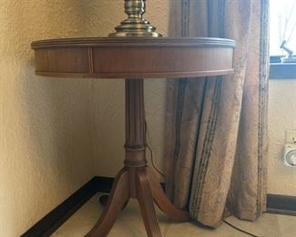 "Vintage Drum Table - 24"" Diameter x 26"" Tall - $80"