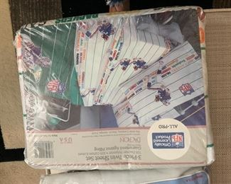 Vintage Twin NFL Sheets $8