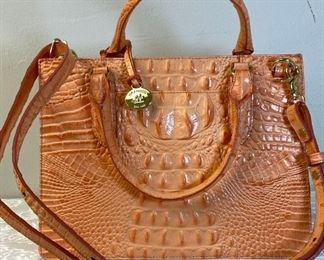 Peach Brahmin Caroline Melbourne shoulder bag/ handbag