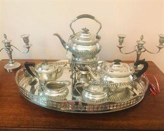 "Sterling silver tea service ""Pilgrim""."