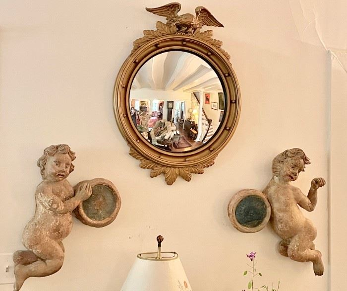 Eighteenth C French or Italian Putti.  Extremely fine with old paint.