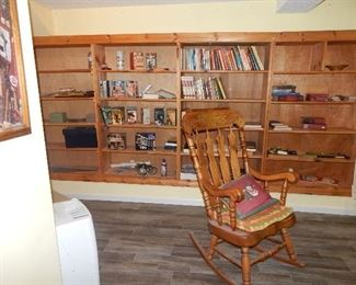 VHS sets, books, rare Yugoslavia rocking chair