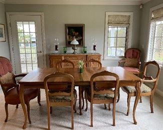 Beautiful antique dining set, buffet and china cabinet