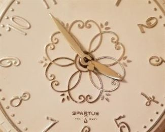 Spartus Clock with Electrical Plug