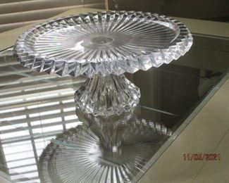 Crystal cake plate from Slovenia