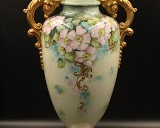 flower handled vase pottery