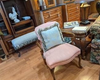STUNNING CHAIRS AND BENCHES, THROW PILLOWS, ROOSTERS AND MORE!