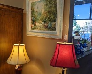 ORIGINAL OIL PAINTINGS!!!  WE HAVE MORE!   STUNNING LAMPS OF ALL KINDS!