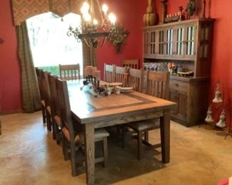 Western farmhouse table and chairs