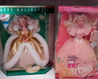 NIB Barbie, mostly from the early 1990's to early 2000's
