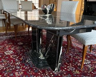 Vintage Roche Bobois marble extension dining room table. Photo 1 of 2