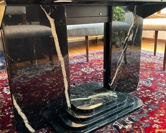 Vintage Roche Bobois marble extension dining room table. Photo 2 of 2