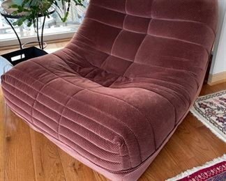 Vintage Roche Bobois lounger and ottoman. Photo 2 of 4