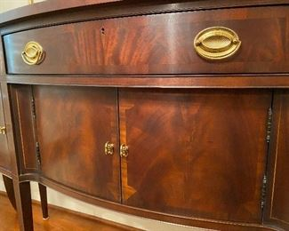 Hickory Chair Company James River Plantation Collection Inlaid Flame Mahogany Sideboard