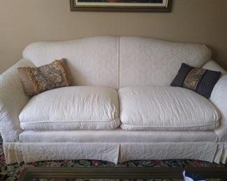 white couch, pristine condition