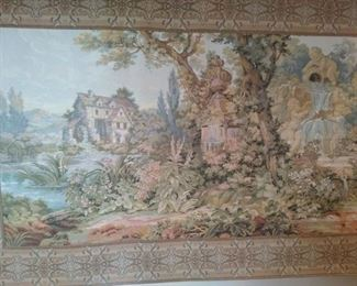 Tapestry with cherubs