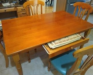 wooden dining table or desk, you choose!  Includes 4 chairs