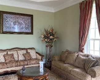Contemporary high end furnishings , attractive oriental rugs