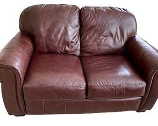 Lane Leather Love Seat