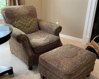 Bernhardt Chair and Ottoman