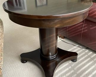 Drexel Pedestal Side Table