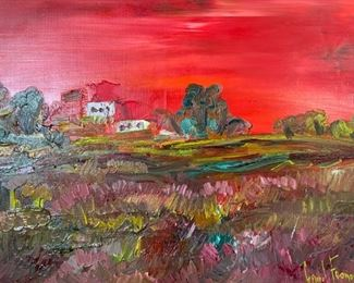 GERARD ECONOMOS Signed Oil Painting