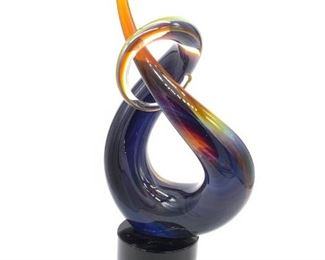 Signed ZANETTI MURANO Italian Art Glass Love Knot