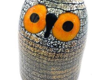 OIVA TOIKKA For IITTALA Signed Glass Barn Owl
