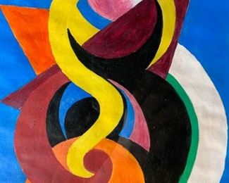 Signed Oil Painting Attributed to AUGUSTE HERBIN
