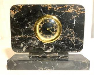 Vintage ONYX TROPHY CO Tabletop Clock