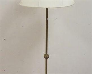 1012BRASS FLOOR LAMP W/ ENAMEL DECORATION 65 IN H