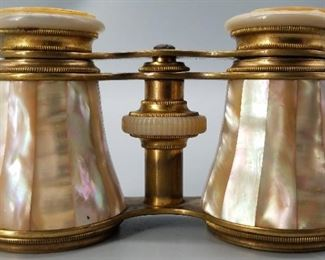19th Century Brass/Mother of Pearl Opera Glasses
