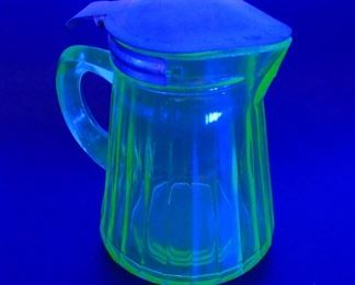 Vintage Uranium Depression Glass Cream