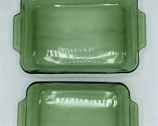 Anchor Green Glass Pans