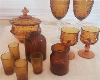 Amber Glass Decor
