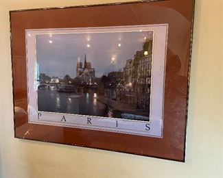 Framed photograph of Paris Is 38 inches wide by 29 inches high. $48