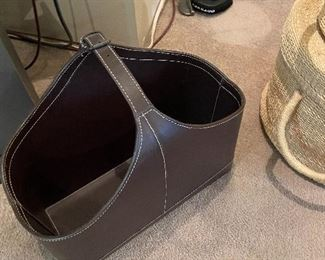 Brown leather tote for sale in person Friday and Saturday