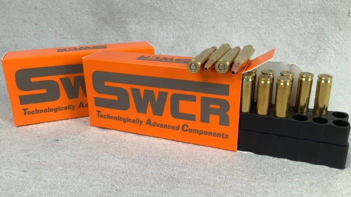 Mfg - (2 times the bid) 40 Model - SWCR T.A.C. 223 Rem Caliber - ammo Located in Chattanooga, TN Condition - 1 - New This lot contains two 20 round boxes of SWCR T.A.C. 223 Rem. ammunition. 55 grain, Solid copper hollow point bullet.