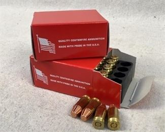 Mfg - (2 times the bid) 75gr Model - CNC Milled Self Defense Caliber - 380 Auto Located in Chattanooga, TN Condition - 1 - New This lot contains two 20 round boxes of reloaded - 380 ACP cartridges have factory seconds solid copper 75gr projectiles that are CNC machined to create and inflict maximum damage and terminal velocities.