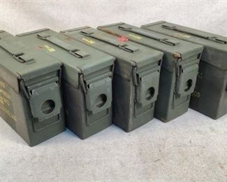 Mfg - (5) 30 Caliber Model - Ammo Cans Located in Chattanooga, TN 30 Caliber Surplus Ammo Cans, condition may vary